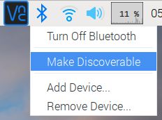 Raspberry Pi Bluetooth discoverable